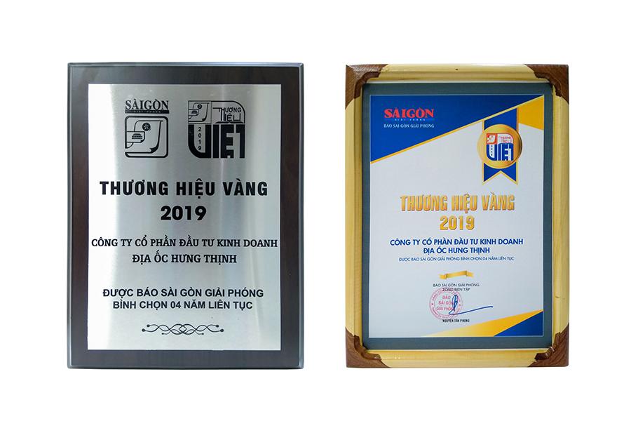 Dự án đất nền Hưng Thịnh, Căn hộ Q7 - Hưng Thịnh 3 lần đón nhận giải thưởng Thương hiệu bất động sản yêu thích nhất và Thương hiệu Vàng 2019