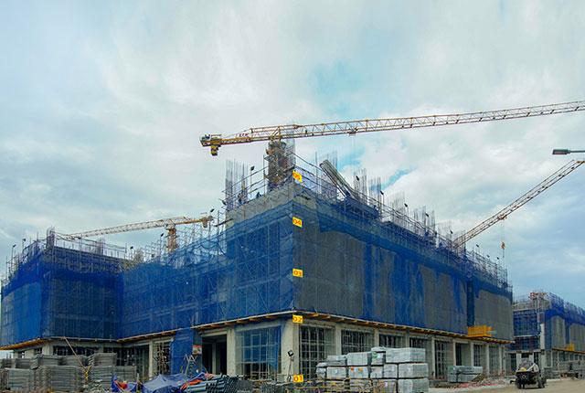 Dự án đất nền Hưng Thịnh, Căn hộ Q7 - Tiến độ thi công Q7 Sài Gòn Riverside Complex ngày 20/12/2019