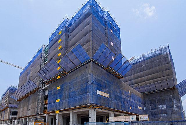 Dự án đất nền Hưng Thịnh, Căn hộ Q7 - Hình ảnh thi công Q7 Saigon Riverside Complex đến ngày 20-03-2020
